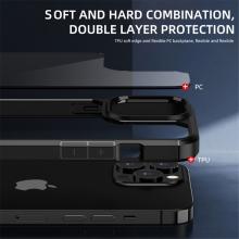 Kryt IPAKY pro Apple iPhone 13 Pro Max - plastový / gumový - průhledný / červený