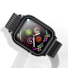 Řemínek USAMS pro Apple Watch 44mm Series 4 / 5 / 6 / SE / 42mm 1 / 2 / 3 + pouzdro - milánský tah - černý