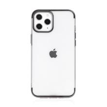 Kryt FORCELL Electro pro Apple iPhone 12 / 12 Pro - gumový - průhledný / černý