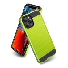 Kryt pro Apple iPhone 12 / 12 Pro - broušený povrch - plastový / gumový - černý / zelený