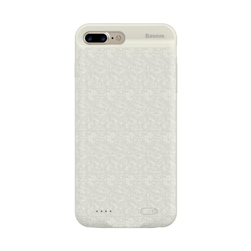 Externí baterie / kryt BASEUS pro Apple iPhone 7 Plus / 8 Plus - 7300 mAh - šrafovaná mozaika - béžová