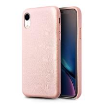 Kryt QIALINO pro Apple iPhone Xr - pravá kůže - růžový