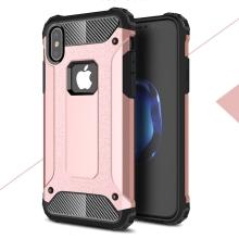 Kryt pro Apple iPhone X - odolný - plastový / gumový - Rose Gold