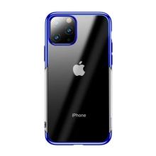 Kryt BASEUS Shining pro Apple iPhone 11 Pro Max - gumový - pokovený - průhledný / modrý