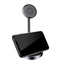 Stojánek BASEUS pro Apple iPhone - nalepovací - magnetický - kovový - černý